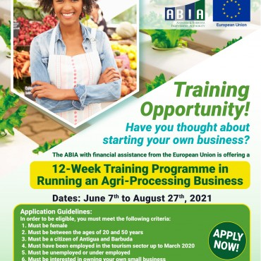 Agri-Processing Training Opportunity